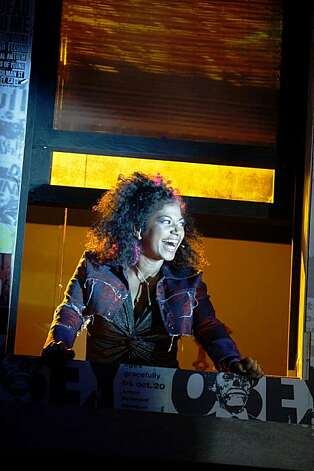 "Rebecca Naomi Jones playing Whatsername during the final dress rehearsal for Berkeley Rep's Roda Theatre world premiere of ""American Idiot, "" a new musical adaptation of Green Day's  album of same name, directed by Michael Mayer in Berkeley, Calif., on Thursday, September 3, 2009. Photo: Liz Hafalia, The Chronicle"