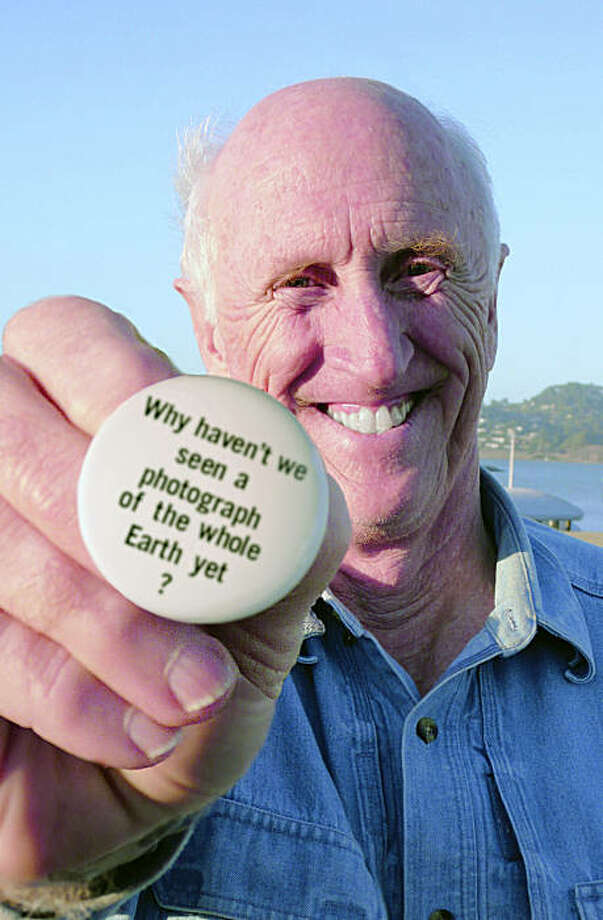 Stewart Brand with the button that launched a movement in EARTH DAYS. A Robert Stone film. A Zeitgeist Films release. Photo: Zeitgeist Films