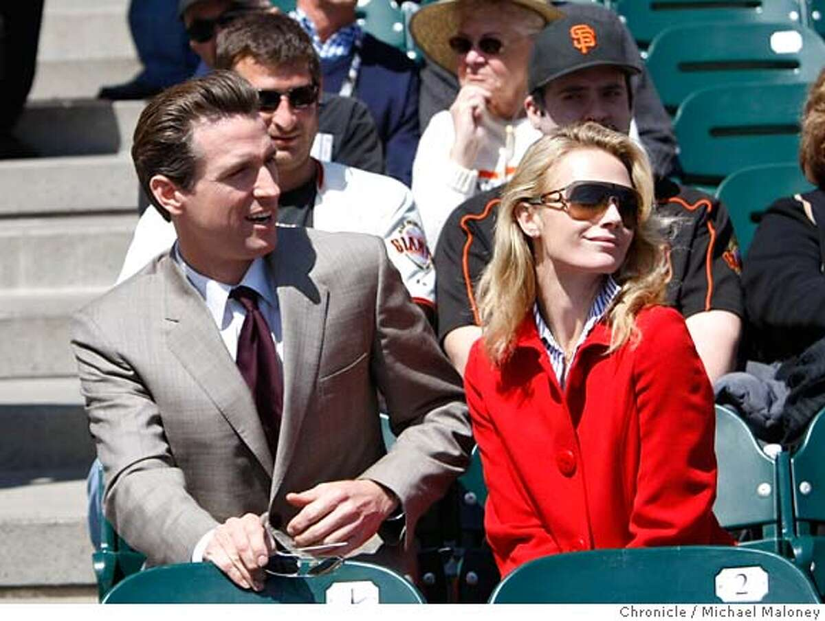 ###Live Caption:San Francisco mayor Gavin Newsom and his girlfriend Jennifer Siebel attended the game. The San Francisco Giants host the San Diego Padres at AT&T Park in San Francisco, Calif., on April 7, 2008. It was the Giants home opener. Photo by Michael Maloney / San Francisco Chroniclem###Caption History:San Francisco mayor Gavin Newsom and his girlfriend Jennifer Siebel attended the game. The San Francisco Giants host the San Diego Padres at AT&T Park in San Francisco, Calif., on April 7, 2008. It was the Giants home opener. Photo by Michael Maloney / San Francisco Chronicle###Notes:***Gavin Newsom, Jennifer Siebel###Special Instructions:MANDATORY CREDIT FOR PHOTOG AND SAN FRANCISCO CHRONICLE/NO SALES-MAGS OUT