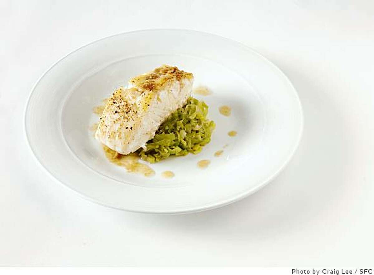 Sauteed Ling Cod with leeks and Anchovy Butter, San Francisco, Calif., on April 15, 2008. Food styled by Cindy Lee, Gaby Camacho and Maryann Smitt.Photo by Craig Lee / The San Francisco Chronicle