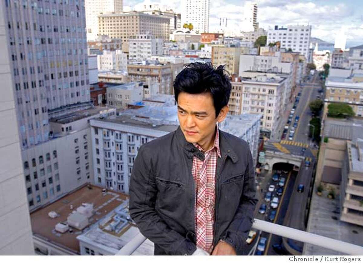 John Cho who is in town for the opening of his new movie Harold and Kumar showing at the Asian Film Festival. He was photographed on top of the Campton Place Hotel in San Francisco Saturday March 15 2008. Photo By Kurt Rogers / San Francisco Chronicle