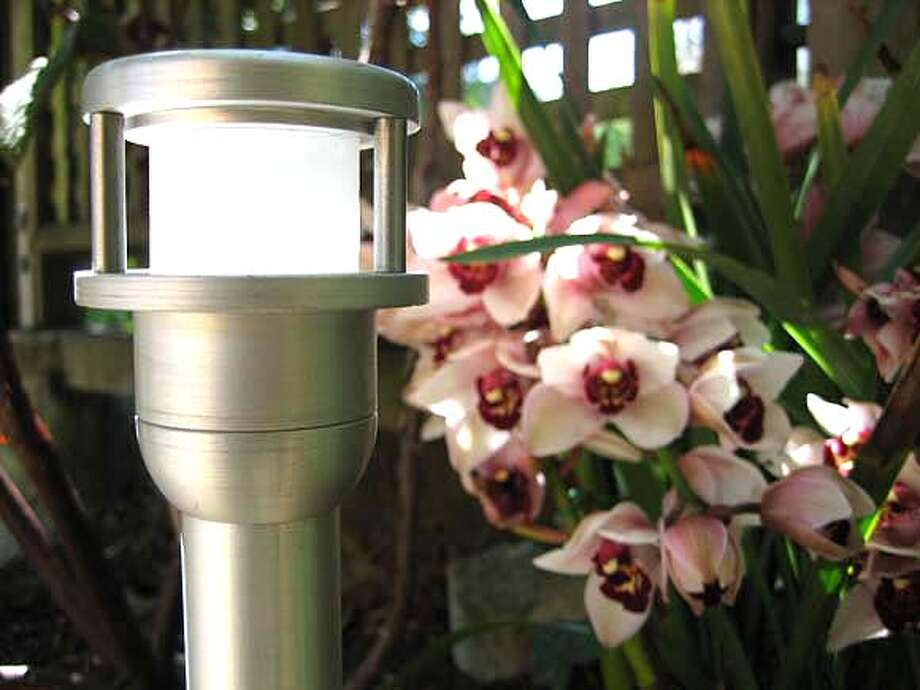 ###Live Caption:PA2 Marker Light by Vison3. It goes for $247 in that brushed aluminum finish, but sells for $217 in the standard powder coat colors.from Illumigarden###Caption History:fixture from Illumigarden###Notes:###Special Instructions: Photo: Unknown