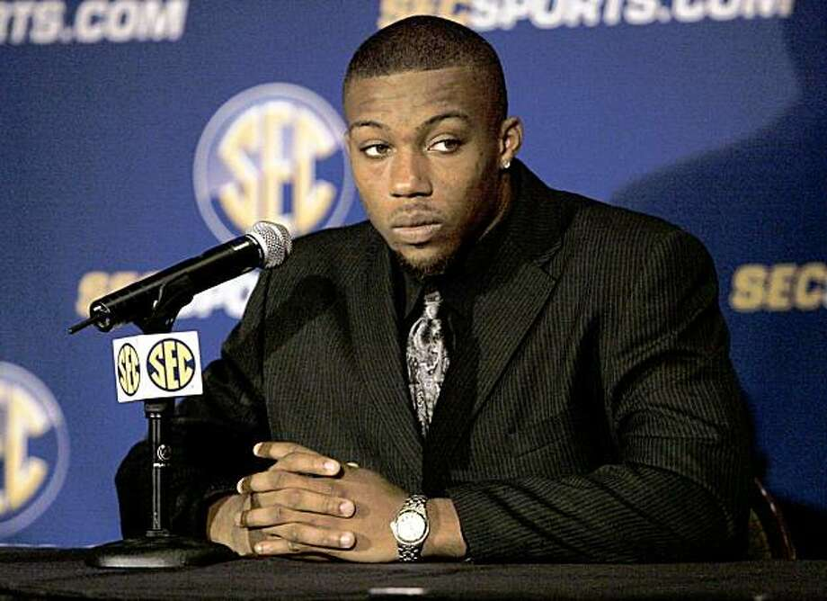Tennessee safety Eric Berry talks about the upcoming season in the SEC at an interview session during the Southeastern Conference football Media Days in Hoover, Ala. on Friday, July  24, 2009. (AP Photo/ Butch Dill) Photo: Butch Dill, ASSOCIATED PRESS