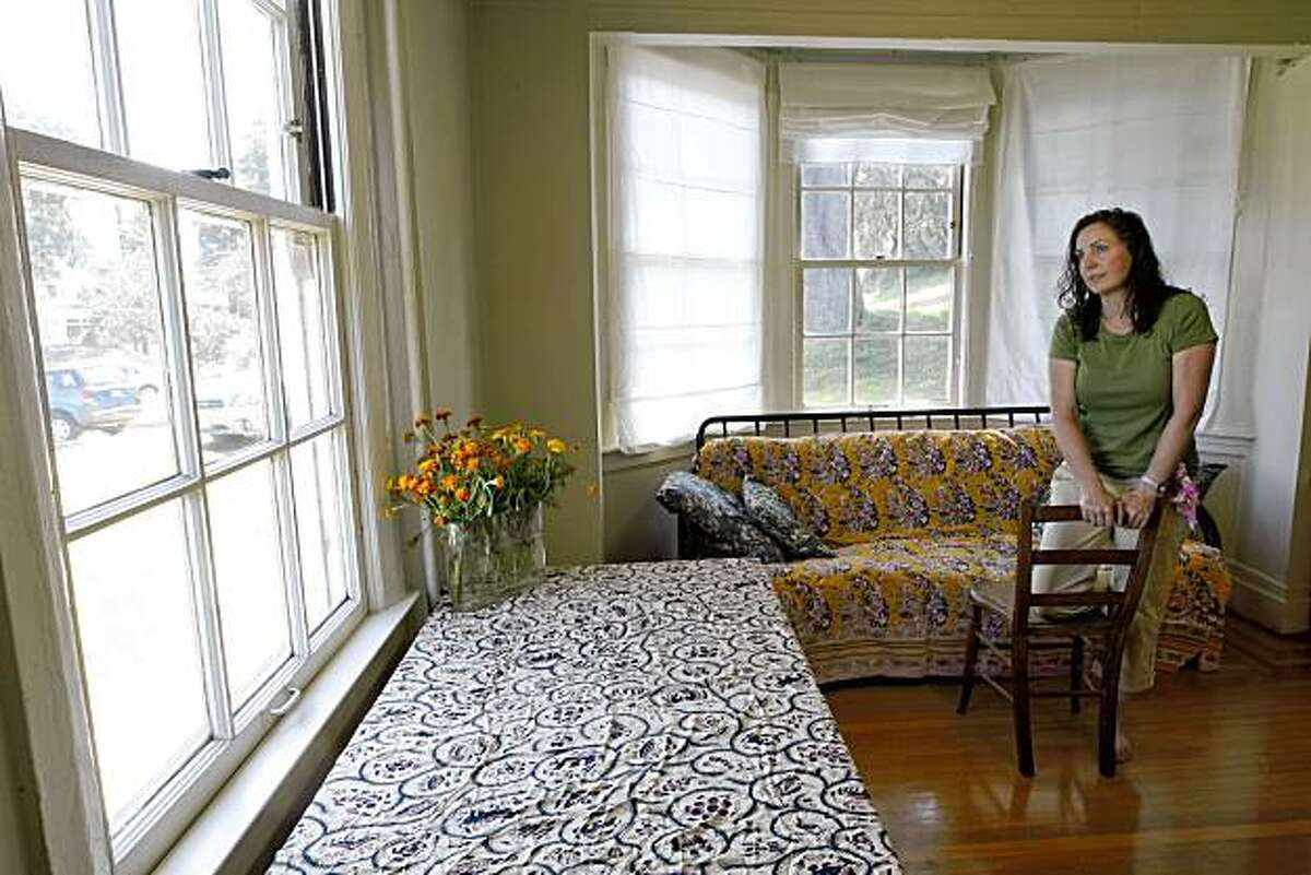 The 150th anniversary of a duel in which U.S. Senator David Broderick was killed by Justice David Terry. Lisette Gelber at her home in Fort Mason in San Francisco, Calif., on Thursday September 3, 2009, standing in the very room where the Senator passed away in.