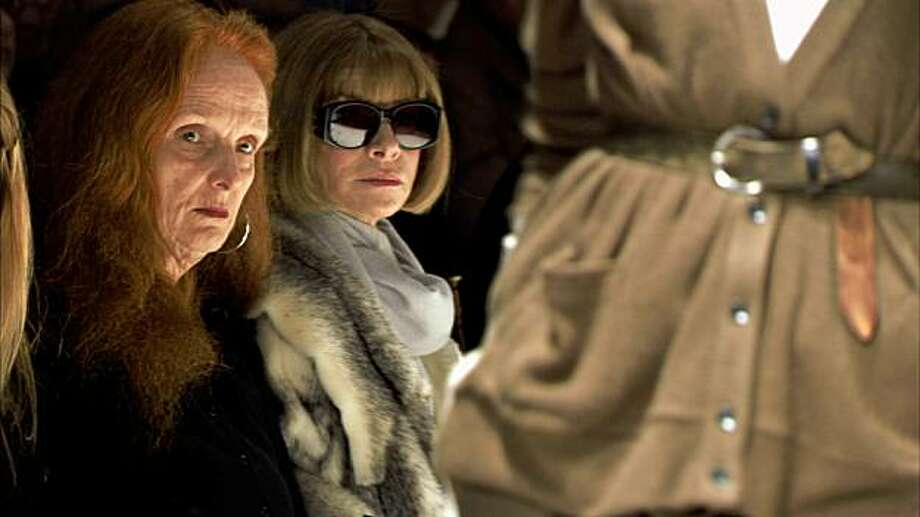 """This photo released by Roadside Attractions shows Grace Coddington, left, Creative Director, VOGUE; and Anna Wintour, Editor-in-Chief, VOGUE, right in """"The September Issue"""", a film by RJ Cutler. (AP Photo/Roadside Attractions)**NO SALES** Photo: Roadside Attractions, AP"""