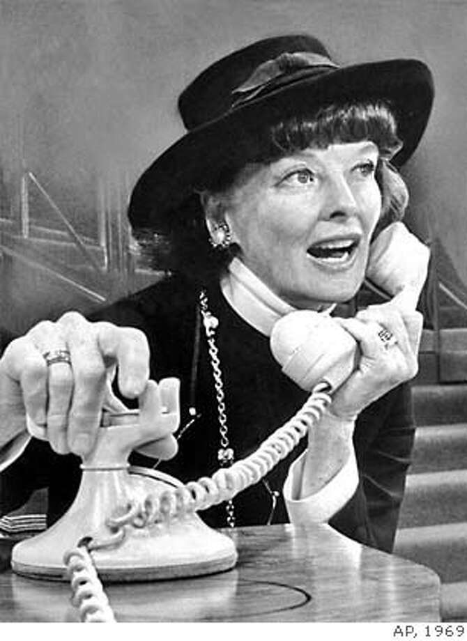 "Katharine Hepburn uses the telephone in a scene from the musical ""Coco,"" in which she plays the starring role and which opens in New York, December 18, 1969, marking her return to Broadway. The musical is based on the comeback in 1954 of Parisian couturlere Gabrielle Coco Chanel. (AP Photo) Photo: Anonymous"