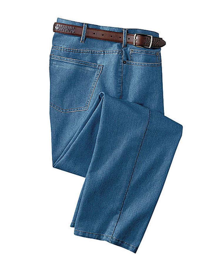 TravelSmith CoolMax-Cotton Denim Jeans Photo: TravelSmith