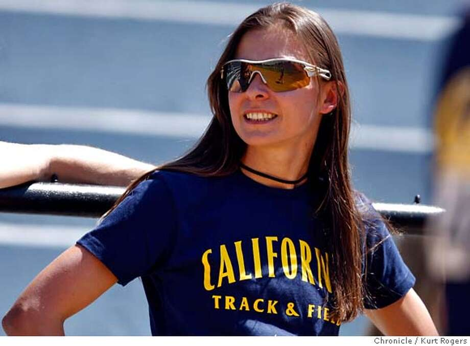 ###Live Caption:Coach Magdalena Lewy former Cal track and field All-American On Saturday April 12, 2008 in Berkeley , Calif  Photo By Kurt Rogers / San Francisco Chronicle###Caption History:Coach Magdalena Lewy former Cal track and field All-American On Saturday April 12, 2008 in Berkeley , Calif  Photo By Kurt Rogers / San Francisco Chronicle###Notes:2008 Big Meet Stanford Vs California Magdalena Lewy (cq)###Special Instructions:MANDATORY CREDIT FOR PHOTOG AND SAN FRANCISCO CHRONICLE/NO SALES-MAGS OUT Photo: Kurt Rogers
