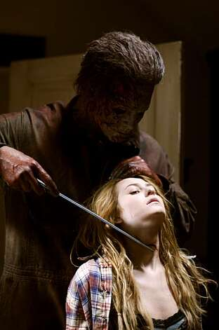 Tyler Mane and Scout Taylor-Compton star in Rob Zombie's HALLOWEEN II. Photo: Marsha LaMarca, Dimension Films, 2009