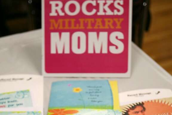 Shown are some of the Hallmark Mother's Day Say It With Music greeting cards made available during the Hallmark Cards' Military Support Day, Tuesday, April 15, 2008 at Fort Bliss, Texas. On Monday, in time for Mother's Day, Hallmark is releasing a line of recordable cards that allow the sender to save a 10-second message on a computer chip embedded in the card, followed by a 15-second snippet of music. (AP Photo/Victor Calzada)