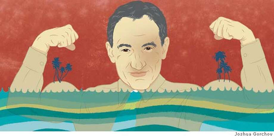 Illustrated portrait of Duane Silverstein for 4/13/08 BRIGHT IDEAS in Sunday magazine. FIRST REPRO RIGHTS ONLY; OK TO POST WITH ARTICLE ON SFGATE