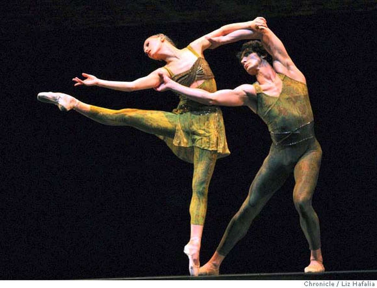 Dress rehearsal of Within the Golden Hour danced by the SF Ballet with Sarah Van Patten and Pierre-Francois Vilanoba in San Francisco, Calif., on Tuesday, April 22, 2008. Liz Hafalia / The Chronicle / {city } / 4/22/08 Photo by Liz Hafalia / San Francisco Chronicle