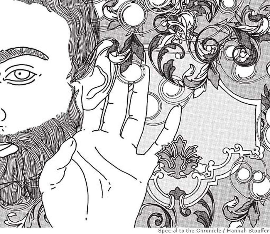 """The Hakawati"": Storytelling's serpentine art. Illustration by Hannah Stouffer"