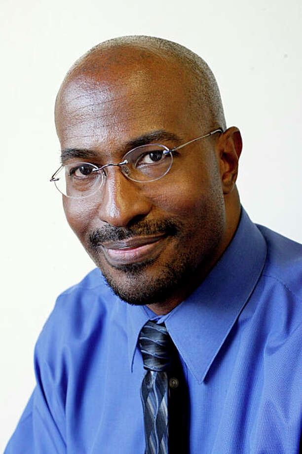 Van Jones founded Green for All, an environmental organization in Oakland, Calif., which integrates lower income folks into the environmental movement by providing them with jobs.  We speak to Van Jones in Oakland, Calif. on Monday, April 28, 2008. Photo by Katy Raddatz / San Francisco Chronicle Photo: Katy Raddatz, The Chronicle