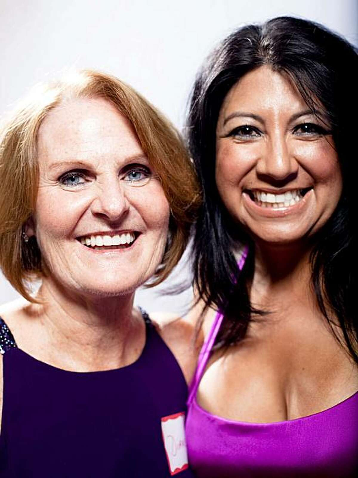 """Miss Cougar America, Gloria Navarro, 42, right, and friend Diane Caselli, 62, at the Cougar Convention. """"She was determined to win,"""" said Caselli."""