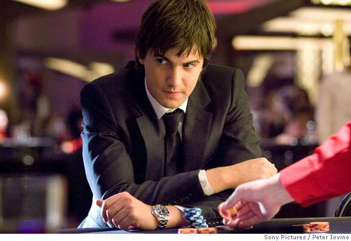Ben Campbell (Jim Sturgess, pictured) is recruited to join M.I.T.�s blackjack team ? a group of students that uses smarts and skills to take Vegas for millions ? in Columbia Pictures� 21. Directed by Robert Luketic, the screenplay is by Peter Steinfeld and Allan Loeb, based upon the book