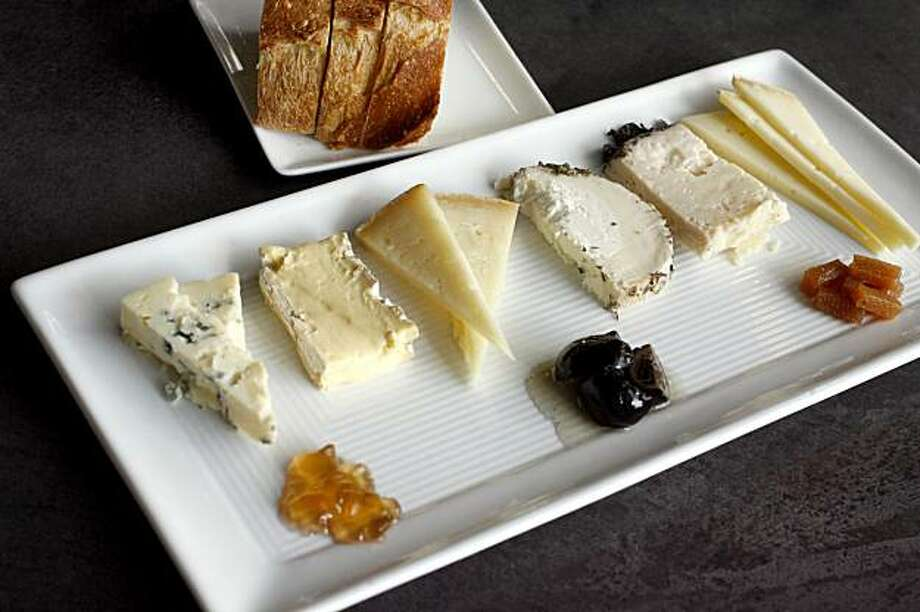 The Mixed Cheese Plate, served at Franklin Square Wine Bar in Oakland, Calif.  on Tuesday, April 1, 2008. Photo by Katy Raddatz /  San Francisco Chronicle Photo: Katy Raddatz, The Chronicle