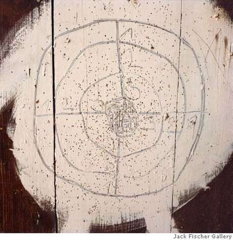"###Live Caption:"" The Handmade Target"" (2008)  Lightjet C-print by Airyka Rockefeller  22x22 in.###Caption History:"" The Handmade Target"" (2008)  Lightjet C-print by Airyka Rockefeller  22x22 in.###Notes:###Special Instructions: Photo: Jack Fischer Gallery, San Franci"