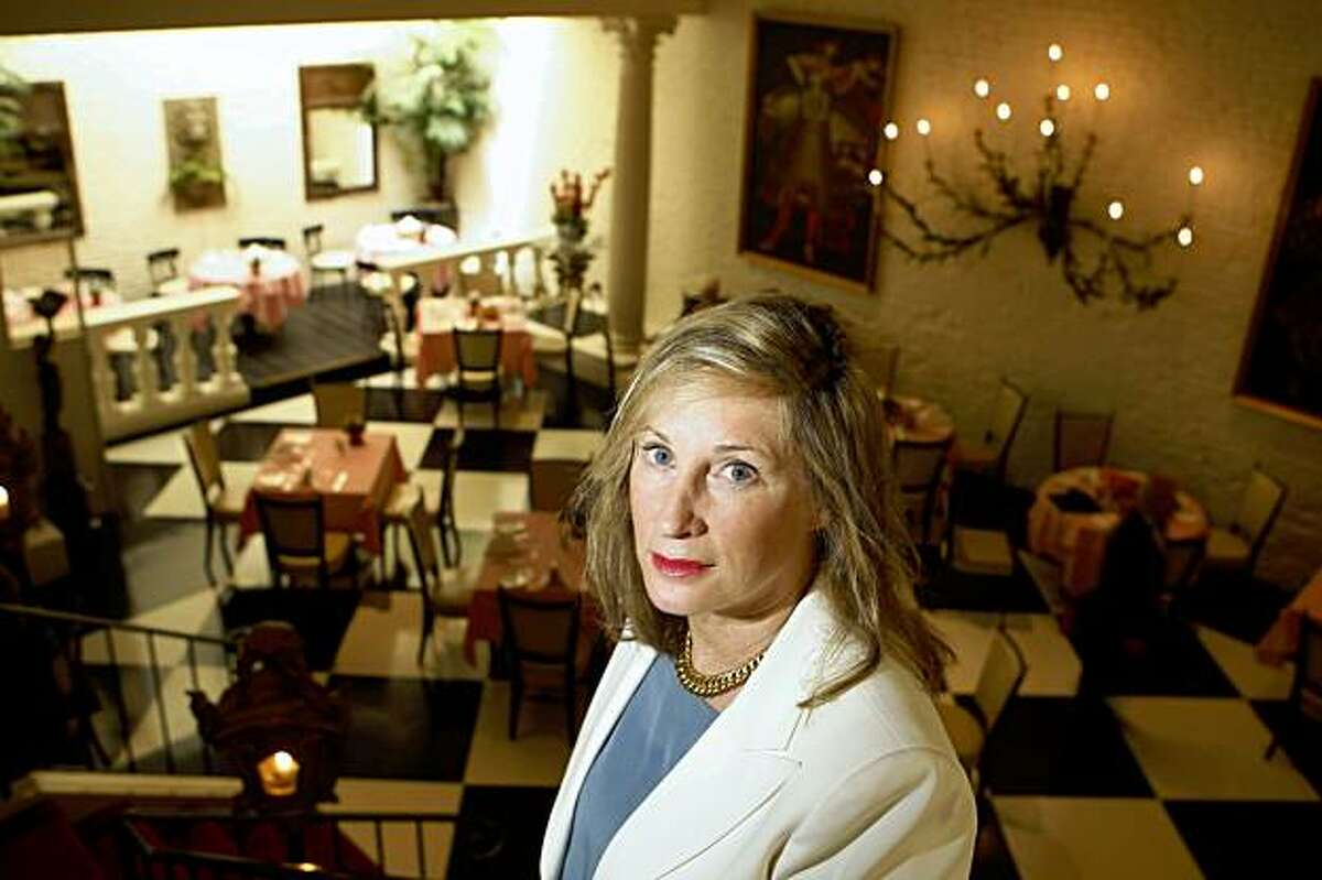 Club President Sara Duryea is seen in the main dining room at Villa Taverna in San Francisco, Calif. on Tuesday, September 8, 2009.