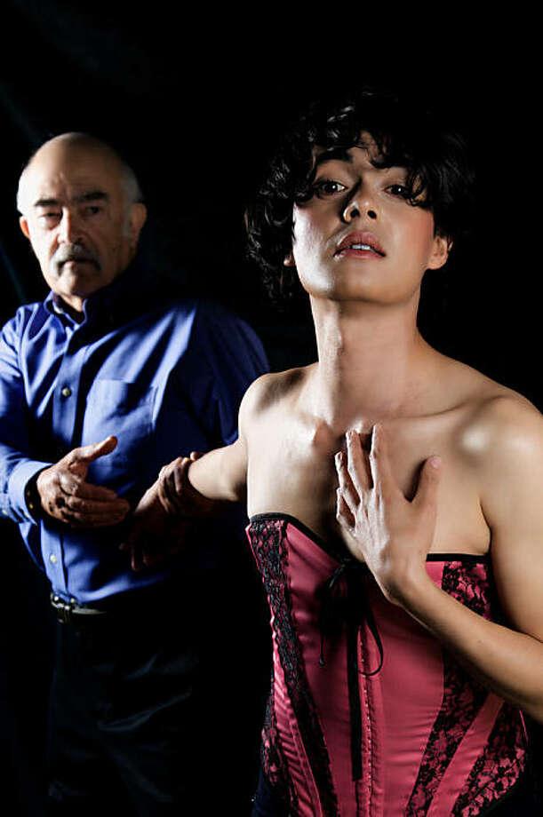 "Michael Moerman as Capulet (left) and Jean Franco as Julien in ""Romeo and Julien."" Photo: Peter Liu"