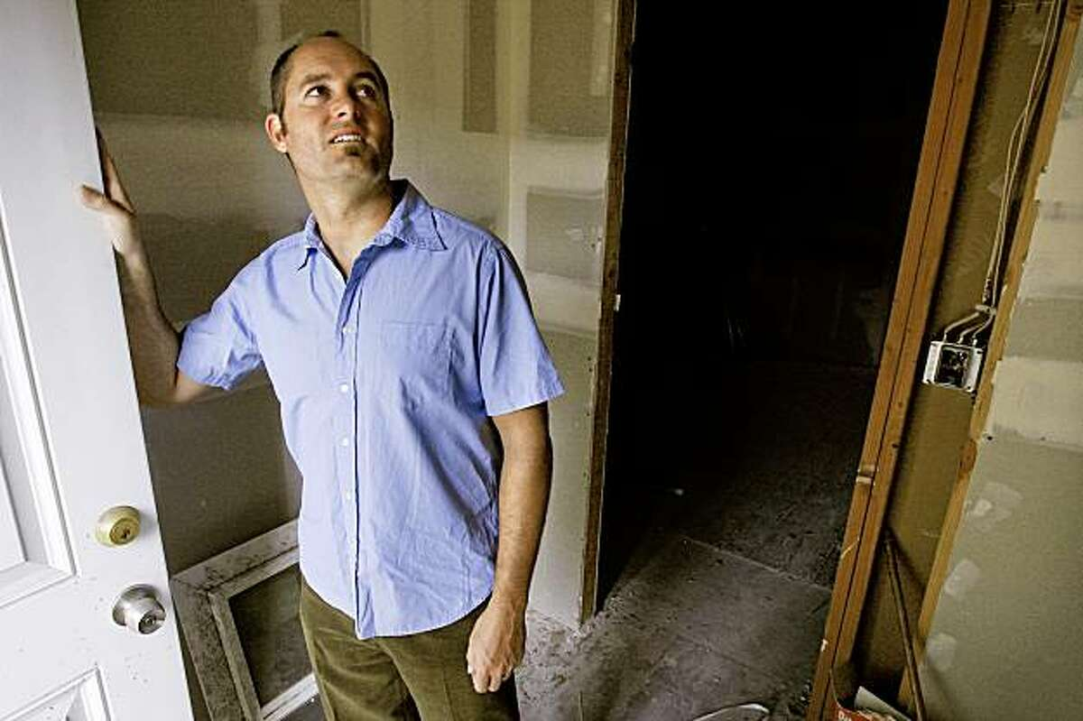 Nathan Foran, used his self-directed IRA to buy this foreclosure property in Richmond, Ca. for a price of $25,000. Foran inside the partially renovated property on Friday August 28, 2009.