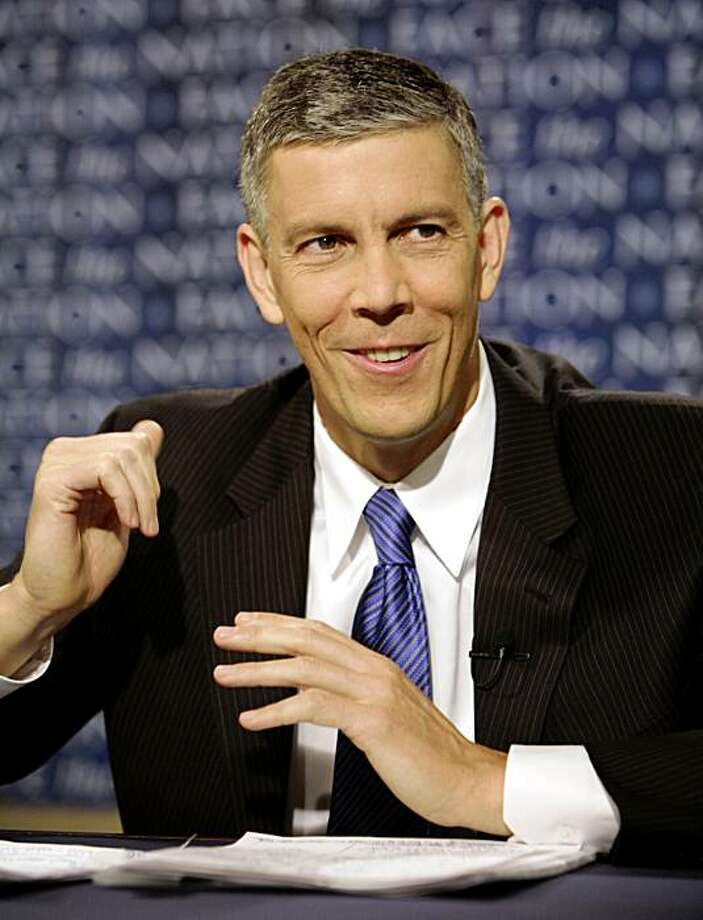 "In this photo provided by CBS, Education Secretary Arne Duncan appears on CBS's ""Face the Nation"" in Washington, Sunday, Sept. 6, 2009. (AP Photo/CBS Face the Nation, Karin Cooper) ** MANDATORY CREDIT: FACE THE NATION, KARIN COOPER   NO SALES   NO ARCHIVE  ** Photo: Karin Cooper, AP"