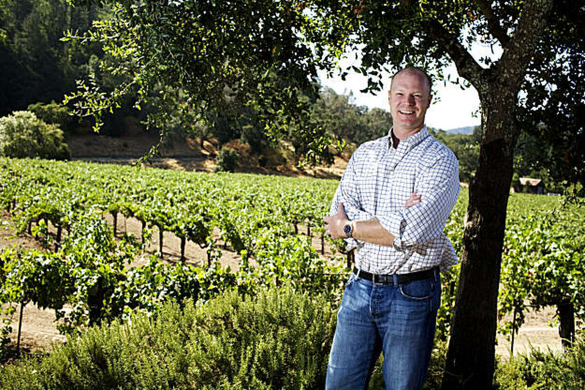 Kirk Venge, of Venge Vineyards, has a new winery that will begin construction later this year, photographed in his vineyard, on Friday, Aug. 7, 2009. Venge has 12.5 acres of Cabernet grapes on the property. Venge is also a winemaker for 11 clients throughout the Napa Valley.