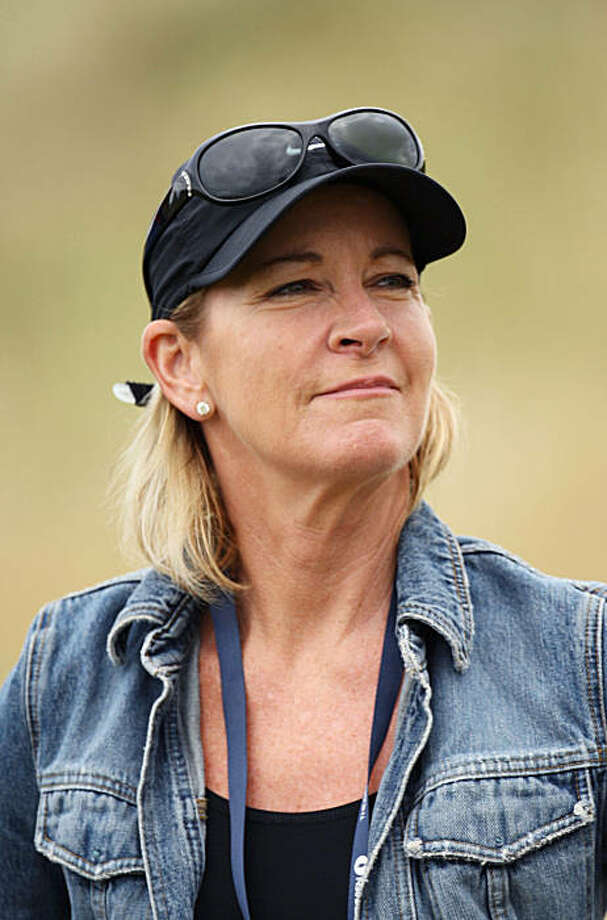 TURNBERRY, SCOTLAND - JULY 16:  Tennis Legend Chris Evert follows Greg Norman's match during round one of the 138th Open Championship on the Ailsa Course, Turnberry Golf Club on July 16, 2009 in Turnberry, Scotland.  (Photo by Ross Kinnaird/Getty Images) *** Local Caption *** Chris Evert Photo: Ross Kinnaird, Getty Images