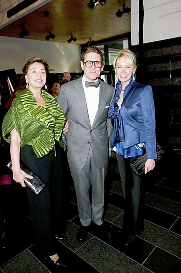 The 2009 Director's Circle dinner at SFMOMA featured guest speaker Alfred Pacquement of the Centre Pompidou in Paris. Attending were: Left to right:  Maria Manetti Farrow, Steven Volpe, Karen Caufield Photo: Cortney Munna For Drew Altizer