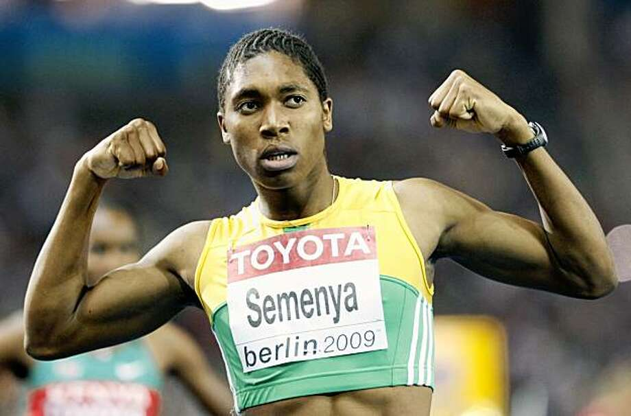 FILE - In this Aug. 19, 2009, file photo, South Africa's Caster Semenya celebrates after winning the gold medal in the final of the Women's 800m at the World Athletics Championships in Berlin. (AP Photo/Anja Niedringhaus, File) Photo: Anja Niedringhaus, AP