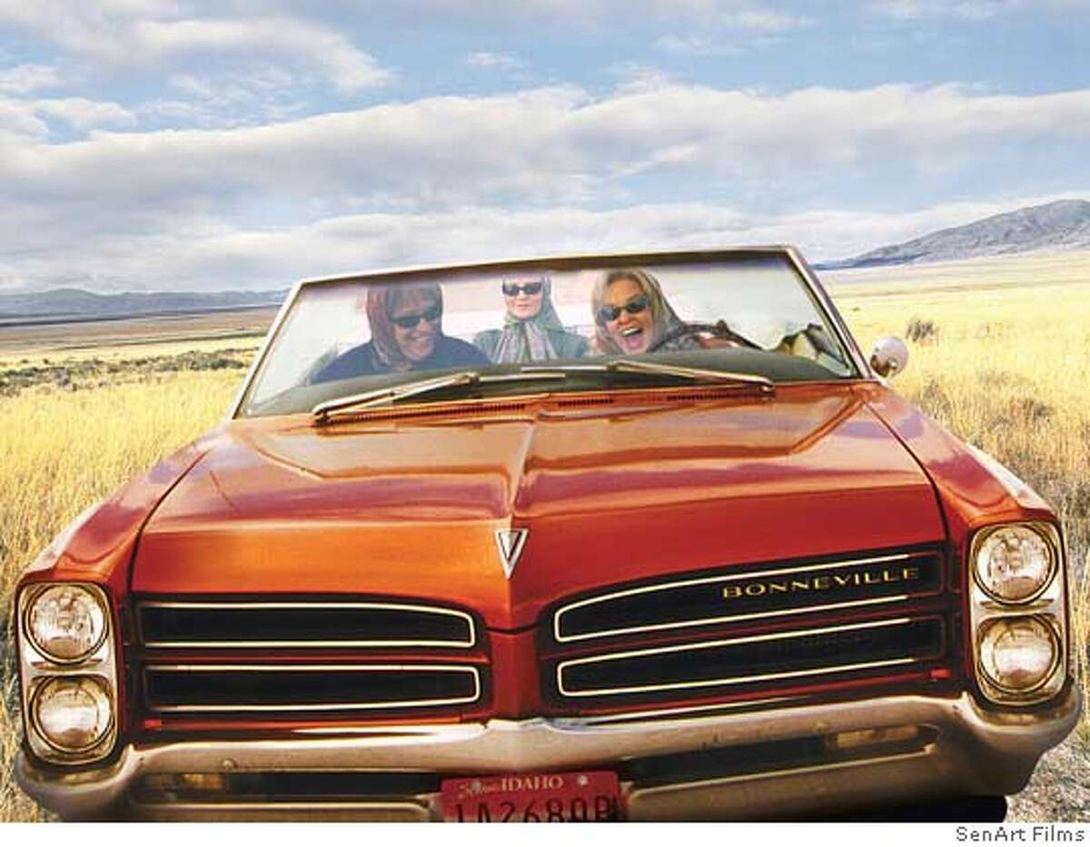Jessica Lang, Kathy Bates and Joan Allen take off in Arvilla's 1966 Bonneville convertable in
