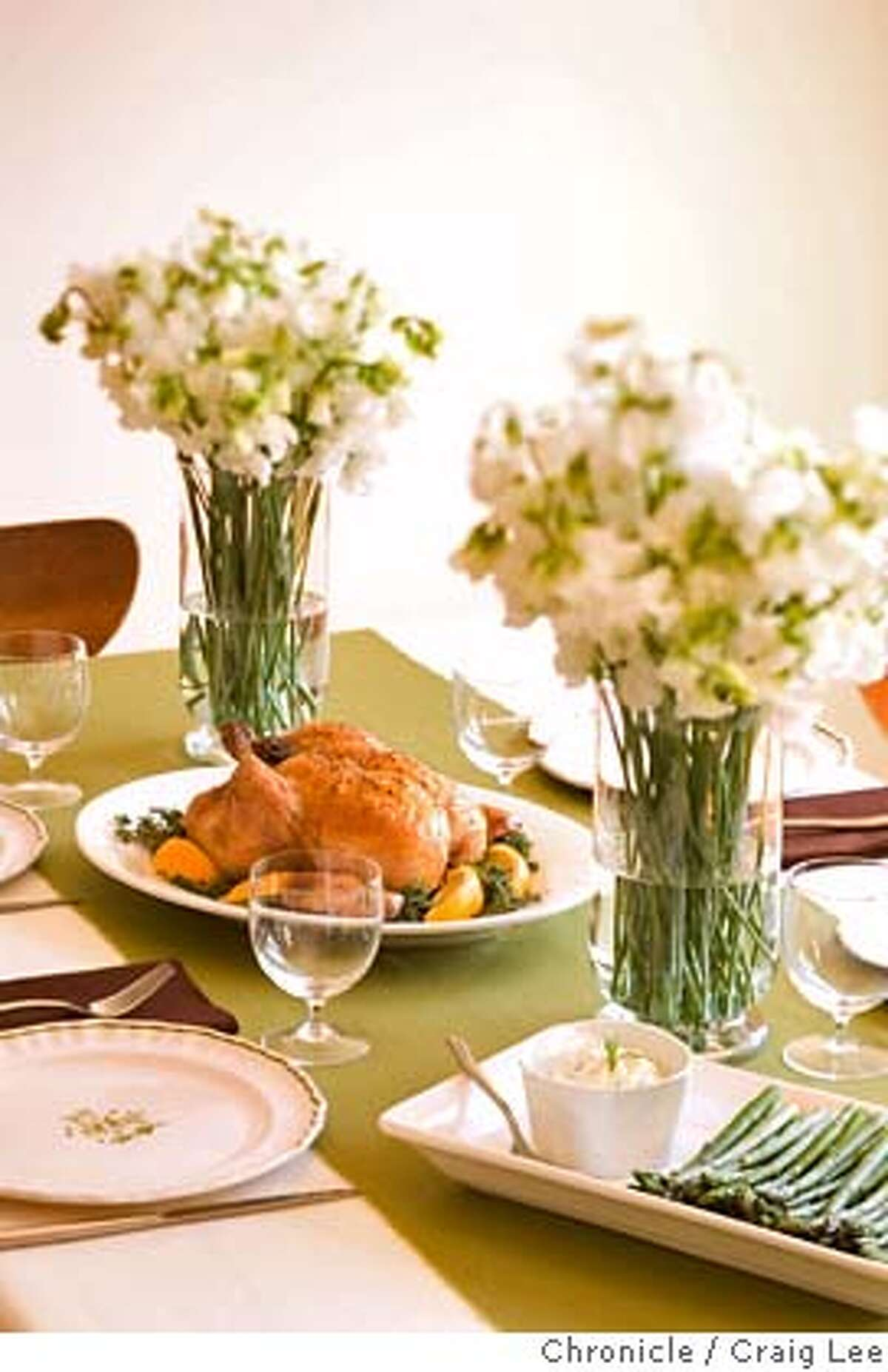 ###Live Caption:Roast chicken and asparagus for a spring entertaining food spread. Food styled by Ethel Brennan. Photo by Craig Lee / The San Francisco Chronicle###Caption History:Roast chicken and asparagus for a spring entertaining food spread. Food styled by Ethel Brennan. Photo by Craig Lee / The San Francisco Chronicle###Notes:Craig Lee 415-218-8597 clee@sfchronicle.com###Special Instructions:MANDATORY CREDIT FOR PHOTOG AND SF CHRONICLE/NO SALES-MAGS OUT