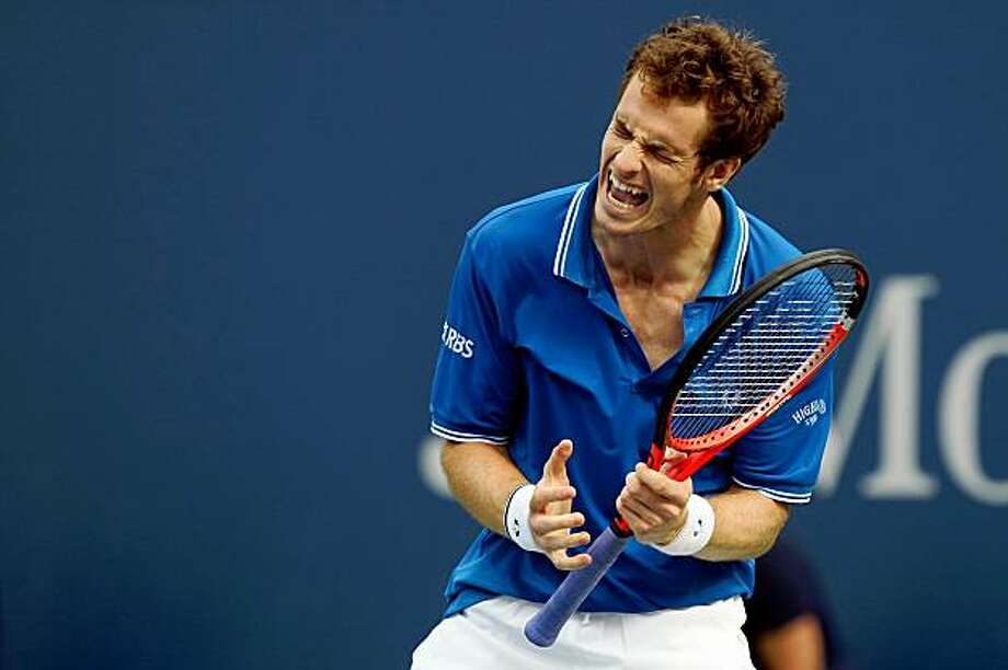 NEW YORK - SEPTEMBER 08:  Andy Murray of Great Britain reacts to a play during his match against Marin Cilic of Croatia during day nine of the 2009 U.S. Open at the USTA Billie Jean King National Tennis Center on September 8, 2009 in the Flushing neighborhood of the Queens borough of New York City.  (Photo by Nick Laham/Getty Images) Photo: Nick Laham, Getty Images