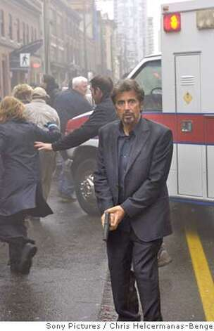 "Al Pacino stars as Dr. Jack Gramm, a college professor who moonlights as a forensic psychiatrist for the FBI in Jon Avnet's thriller ""88 Minutes,"" opening Friday April 18 in Bay Area theaters. � 2008 Columbia Pictures Industries, Inc. and GH Three LLC All rights reserved. Al Pacino stars in TriStar Pictures' thriller 88 MINUTES. Ran on: 04-13-2008  Al Pacino stars as Jack Gramm, a college professor who moonlights as a forensic psychiatrist for the FBI in Jon Avnet's thriller &quo;88 Minutes,&quo; opening Friday at Bay Area theaters. Photo: � 2008 Columbia Pictures Industr"