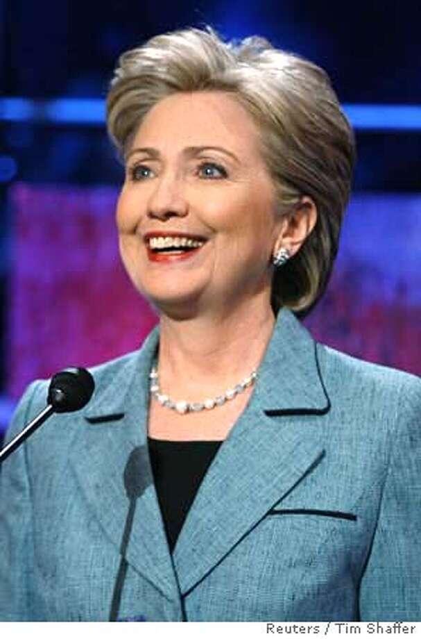US Democratic presidential candidate Clinton speaks in Philadelphia Photo: TIM SHAFFER