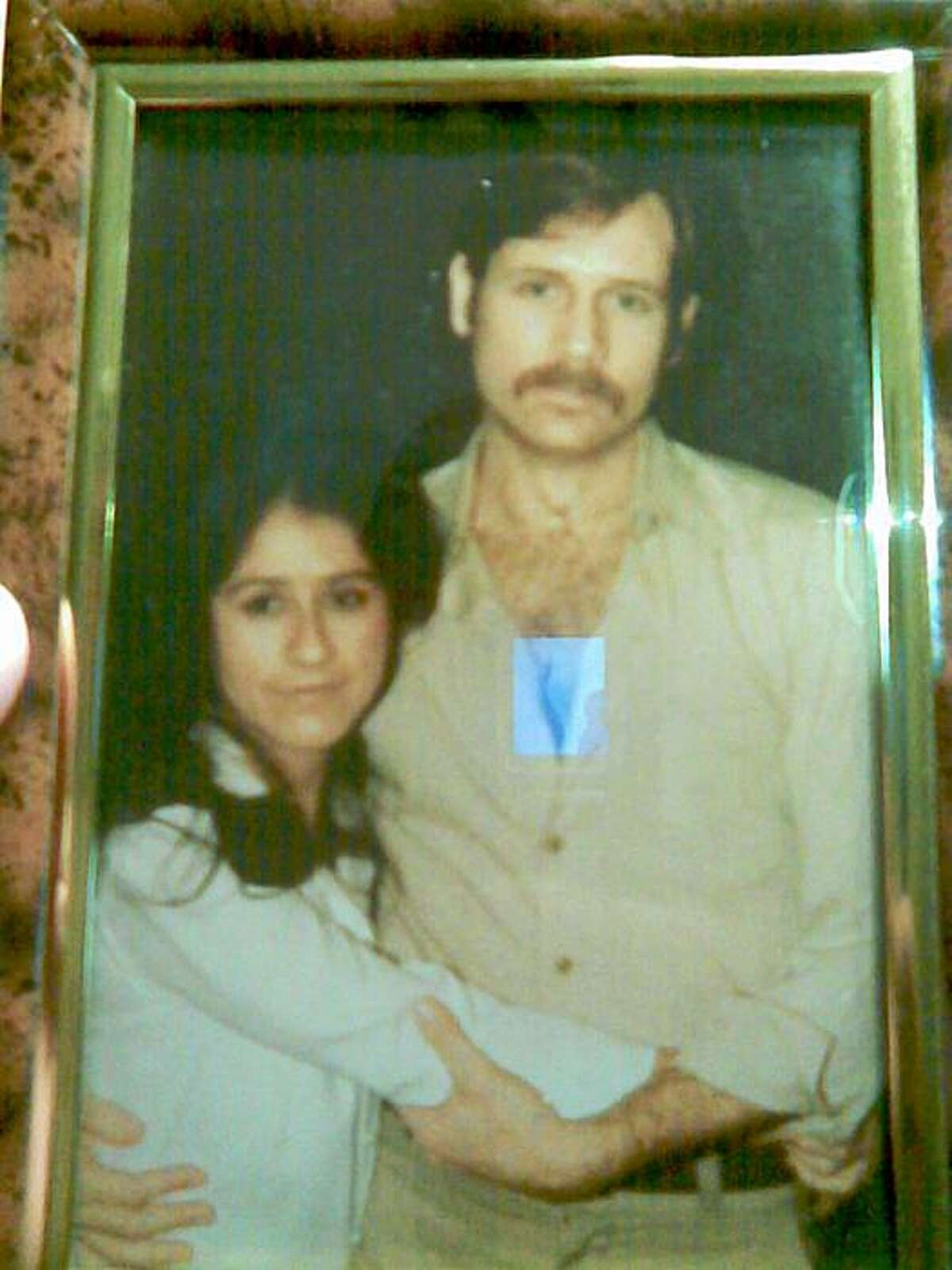 The couple seen arm in arm are Phillip Garrido and Nancy Garrido around the time of their marriage in 1981.