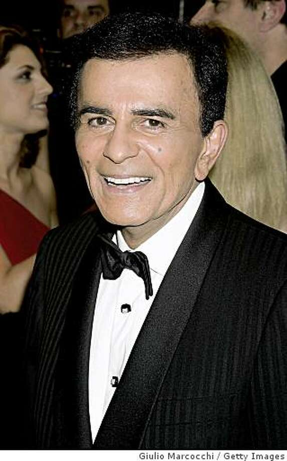 BEVERLY HILLS, CA - FEBRUARY 29:  Casey Kasem arrives at the 13th Annual Night of 100 Stars Oscar Viewing Black Tie Gala, February 29, 2004 at the Beverly Hills Hotel in Beverly Hills, California. (Photo by Giulio Marcocchi/Getty Images) Photo: Giulio Marcocchi, Getty Images