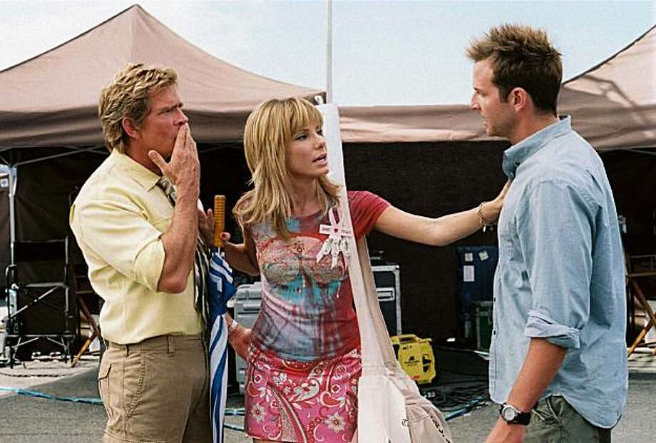 "In this film publicity image released by 20th Century Fox, Thomas Haden Church, left, Sandra Bullock, center, and Bradley Cooper are shown in a scene from, ""All About Steve."" Photo: Suzanne Tenner, AP"