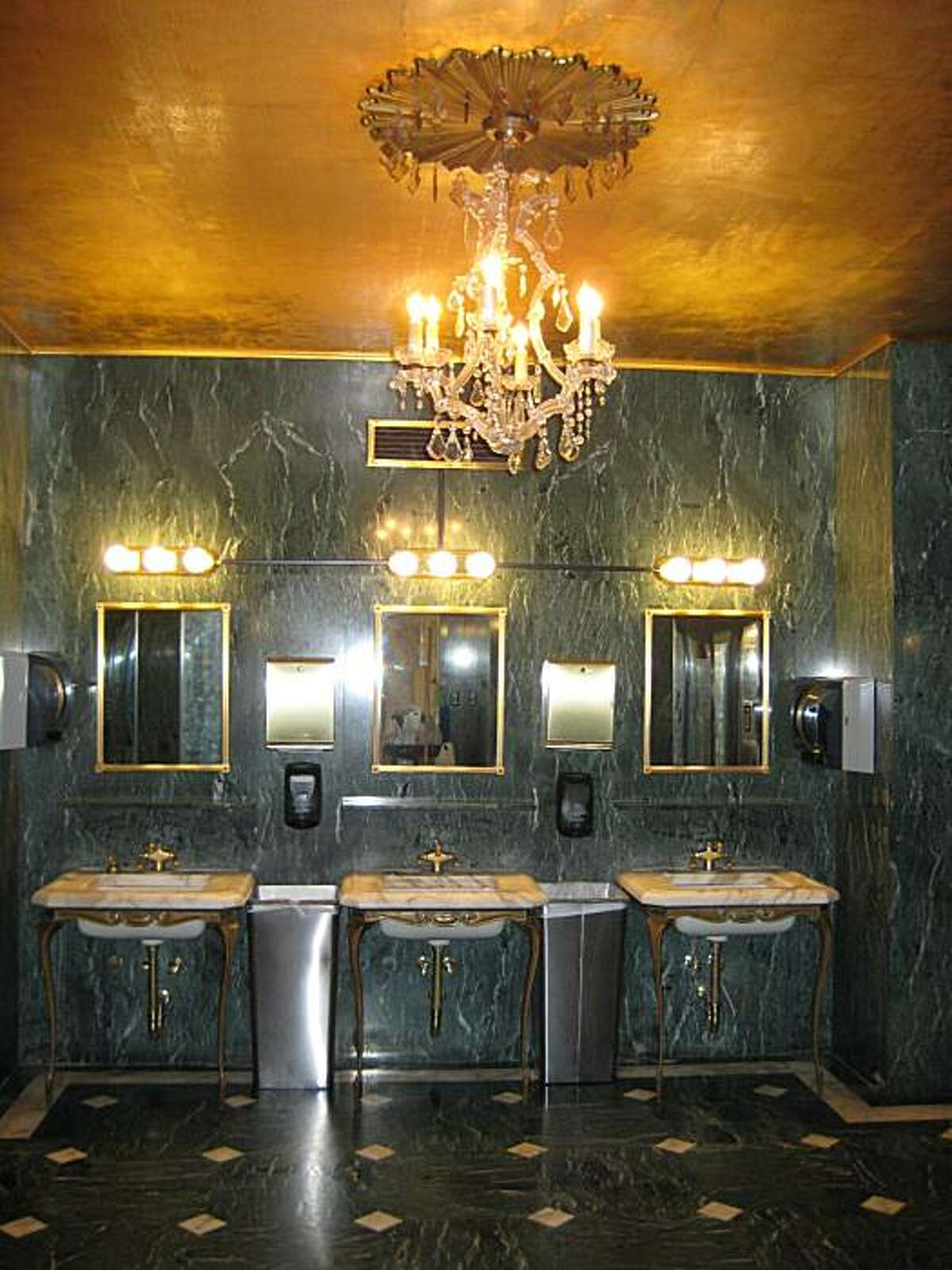 Sixth floor ladies restroom of Macy's Union Square is one of 10 finalists in the annual Best Public Restroom in America contest.
