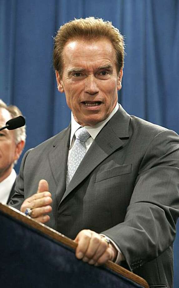 Gov. Arnold Schwarzenegger  during a Capitol news conference in Sacramento, Calif., Thursday, Aug. 20, 2009.(AP Photo/Rich Pedroncelli) Photo: Rich Pedroncelli, AP