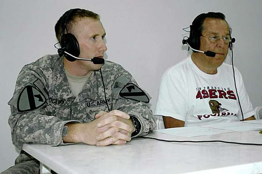 Ron Barr (right) in Iraq Photo: K101