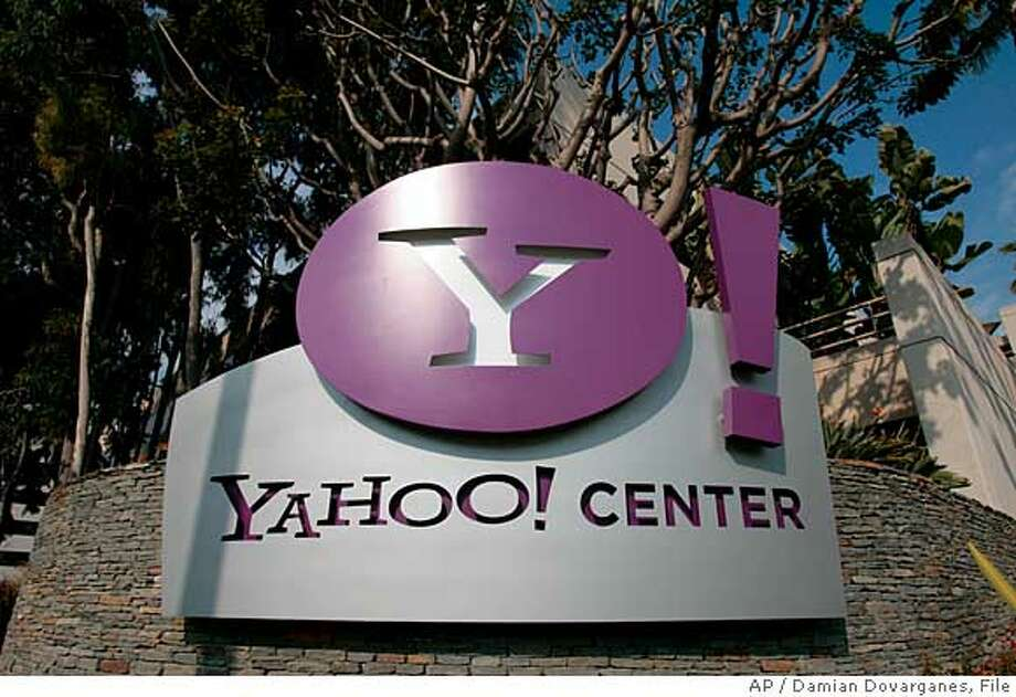 ** FILE ** The Yahoo Center office building is seen in Santa Monica, Calif. in this Feb. 2, 2008 file photo. Yahoo on Tuesday, March 18, 2008 said it expects to roughly double operating cash flow over the next three years and generate $8.8 billion in revenue after costs in 2010. (AP Photo/Damian Dovarganes, file) Photo: Damian Dovarganes