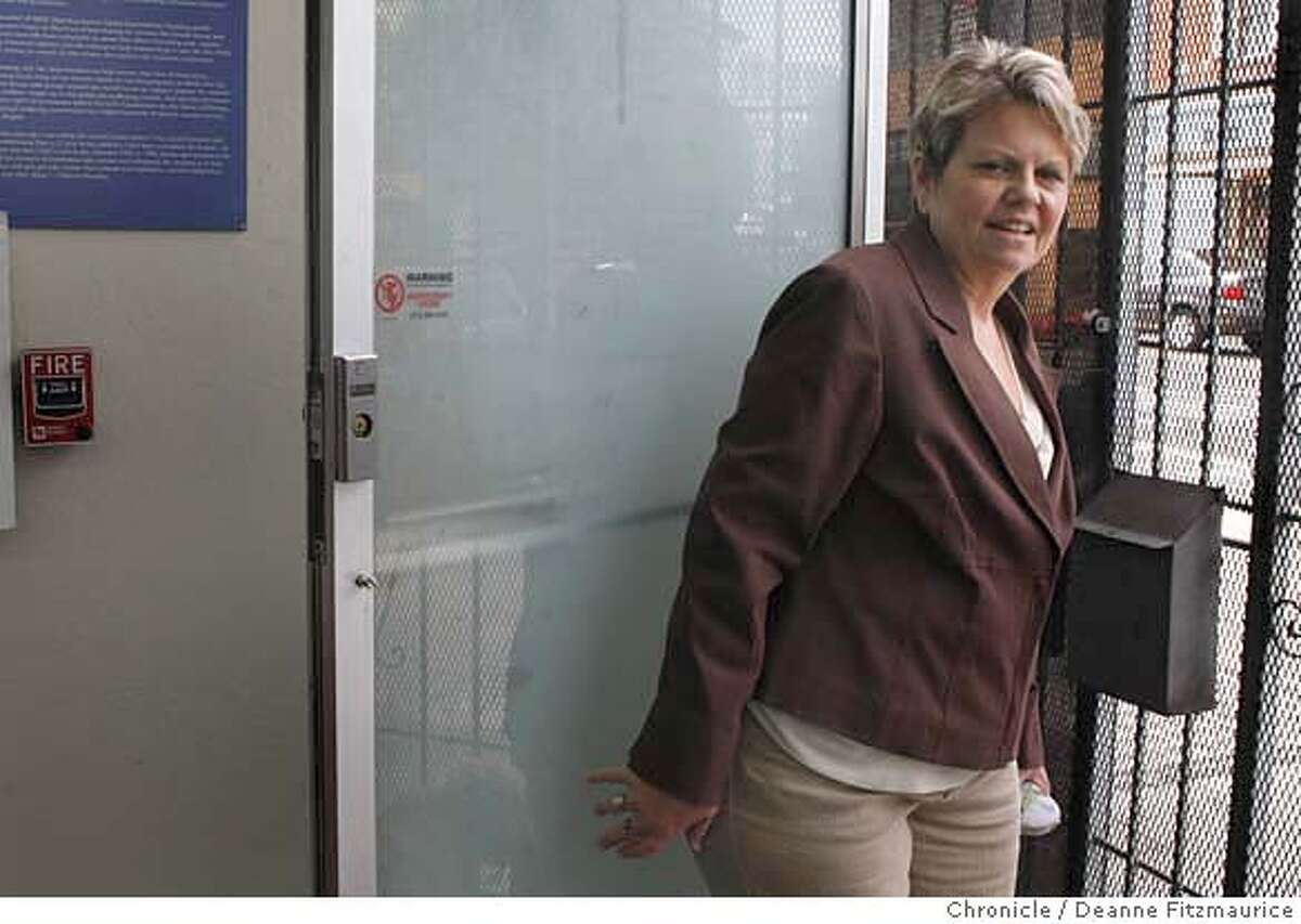 ###Live Caption:Norma Hotaling, founder of the Sage Project for former prostitutes leaves the clinic on April 8, 2008 in San Francisco, Calif. Photo by Deanne Fitzmaurice / San Francisco Chronicle###Caption History:Norma Hotaling, founder of the Sage Project for former prostitutes leaves the clinic on April 8, 2008 in San Francisco, Calif. Photo by Deanne Fitzmaurice / San Francisco Chronicle###Notes:###Special Instructions:Mandatory credit for photographer and San Francisco Chronicle. No Sales/Magazines out.