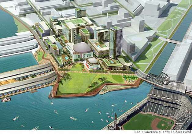 ###Live Caption:The development proposal by the San Francisco Giants for the parking lot next to Mission Bay owned by the Port of San Francisco. Rendering Courtesy of Chris Foyd / San Francisco Giants###Caption History:The development proposal by the San Francisco Giants for the parking lot next to Mission Bay owned by the Port of San Francisco. Rendering Courtesy of Chris Foyd / San Francisco Giants  Ran on: 03-02-2008###Notes:###Special Instructions:MANDATORY CREDIT FOR PHOTOG AND SAN FRANCISCO CHRONICLE/NO SALES-MAGS OUT Photo: Chris Foyd / San Francisco Giant