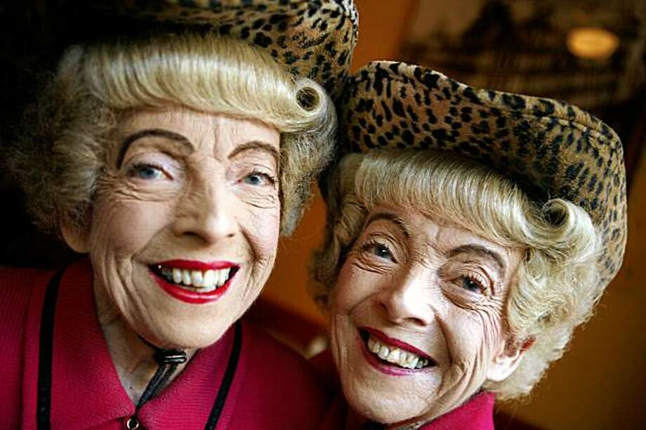 For decades, the Brown twins were among San Francisco's most colorful characters. But what were their first names? Photo: Mike Kepka, The Chronicle