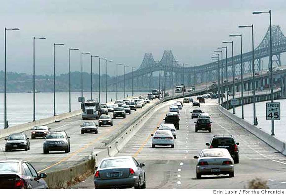 ###Live Caption:Motorists cross the Richmond San Rafael bridge Saturday morning, September 2, 2006. Bridges around the Bay Area are taking on extra traffic due to a weekend closure of the East Bound Bay Bridge for a retrofitting project.###Caption History:BAYBRIDGE03_EAL_001.JPG Motorists cross the Richmond San Rafael bridge Saturday morning, September 2, 2006. Bridges around the Bay Area are taking on extra traffic due to a weekend closure of the East Bound Bay Bridge for a retrofitting project. Event on 09/02/06 in San Rafael.  Erin Lubin / For the Chronicle###Notes:###Special Instructions:MANDATORY CREDIT FOR PHOTOG AND SF CHRONICLE/NO SALES-MAGS OUT Photo: Erin Lubin