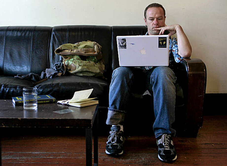 Author Stephen Elliott on Tuesday August 18, 2009 in San Francisco, Calif. Elliott has mixed feelings about a proposed legal settlement allowing Google Inc. to forge ahead with plans to scan millions  of books, including his own. Photo: Michael Macor, The Chronicle