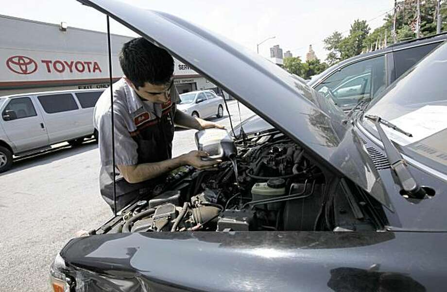Auto insurance that specifies where the car would be repaired is the subject of proposed state legislation  -- and the source of controversy. Photo: Kathy Willens, AP