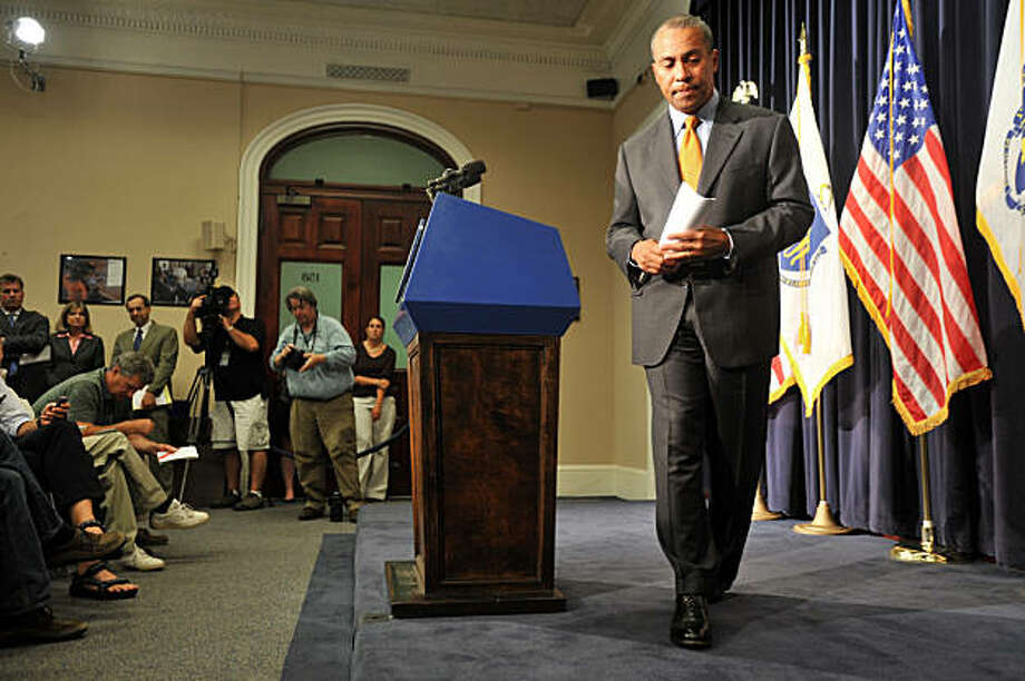 Massachusetts Gov. Deval Patrick speaks to reporters at the Statehouse in Boston, Monday, Aug. 31, 2009, where he announced that a special election to fill the Senate seat left vacant by the death of Sen. Edward Kennedy will be held Tuesday, Jan. 19, 2010. Photo: Josh Reynolds, AP