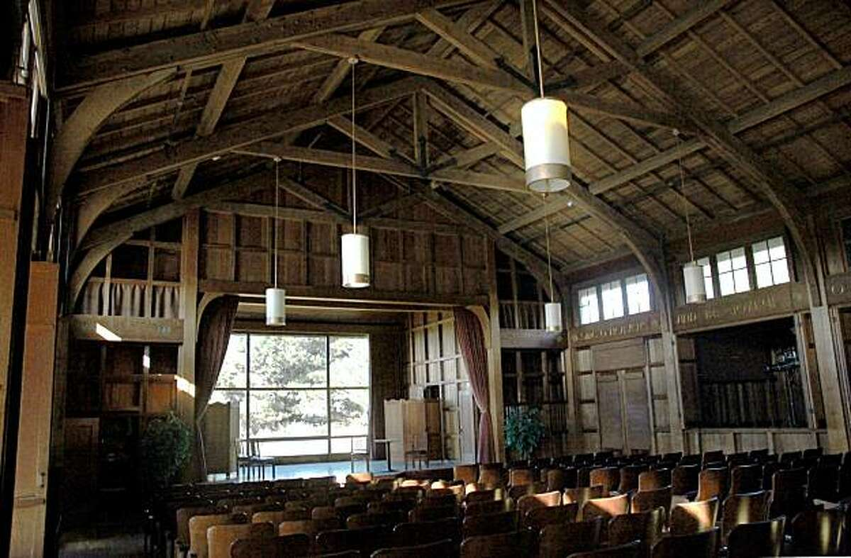One of the building at Asilomar designed by Julia Morgan. Asilomar -- Julia Morgan's Grace H. Dodge Chapel Auditorium. Christine Delsol/Special to The Chronicle ONE-TIME USE ONLY Contact photographer for reuse